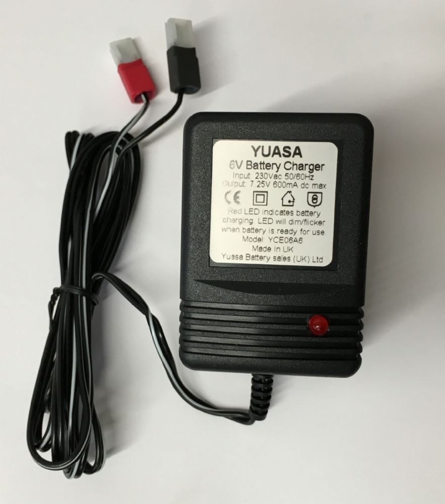 Duracell Marine Battery >> YCE06A6 Yuasa 6v 600mA VRLA Battery Charger From £12.49 EX VAT Buy Online from The Battery Shop